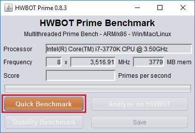 HWBOT Prime Benchmark Validation Regulations