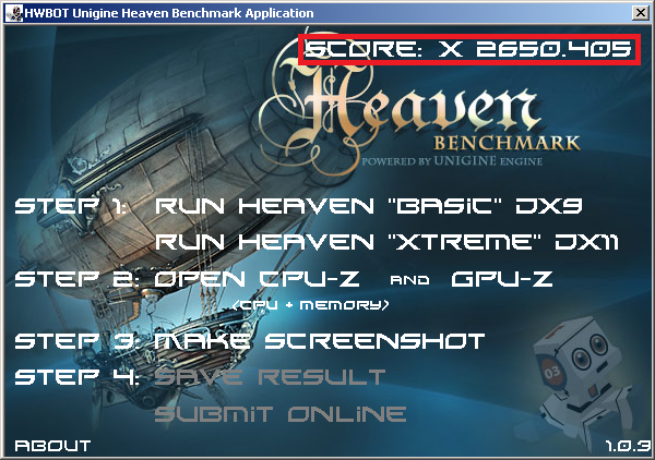 HWBOT Unigine Heaven Xtreme Benchmark Validation Regulations